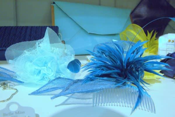 Boutique Lune de Miel Accessoires Mariage 9 - Accesssoire camailleu bleu