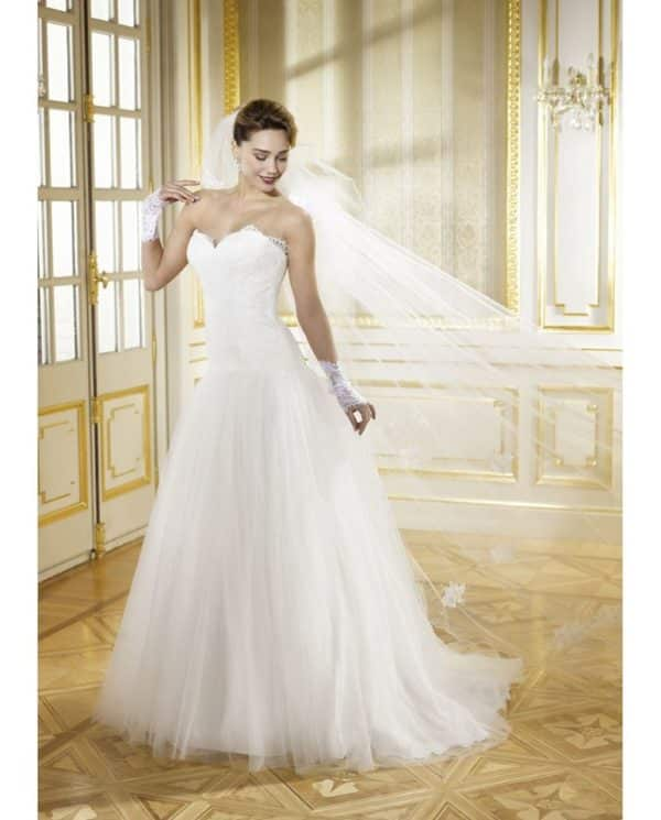 Collector Pomme dAmour robe tulle dentelle coloris ivoire ou blanc taille 36 46 - Collector Pomme d'Amour