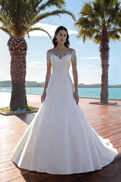 Cosmobella Olympe robe contemporaine tulle dentelle strass différents coloris taille 36 46 - Cosmobella Olympe