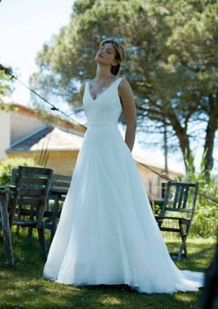 Créations Bochet Oracle robe tulle dentelle calais coloris ivoire ou blanc taille 36 46 - Créations Bochet Oracle