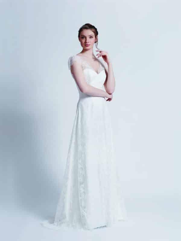 Créations Bochet Pandore robe dentelle calais coloris ivoire ou blanc taille 36 46 - Créations Bochet Pandore