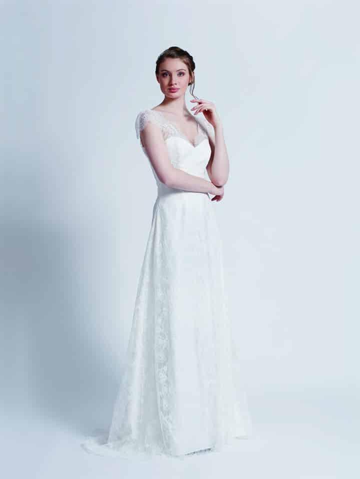 Créations Bochet Pandore robe dentelle calais coloris ivoire ou blanc taille 36 46 - Mentions légales