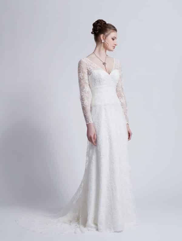 Créations Bochet Parole robe dentelle calais coloris ivoire ou blanc taille 36 46 - Créations Bochet Parole