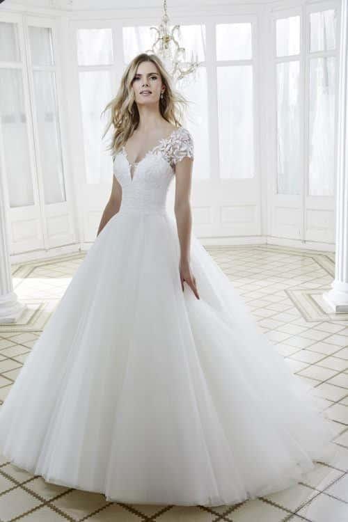 Divina Sposa Célestine robe princesse tulle dentelle coloris ivoire ou blanc taille 36 46 - Divina Sposa Célestine