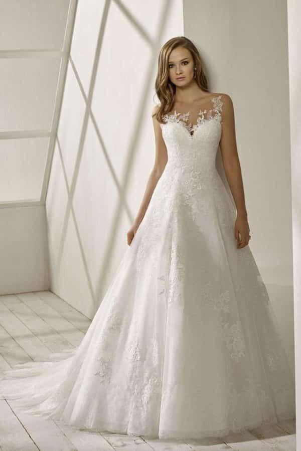 Divina Sposa Destinée robe tulle dentelle coloris ivoire ou blanc taille 36 46 - Divina Sposa Destinée