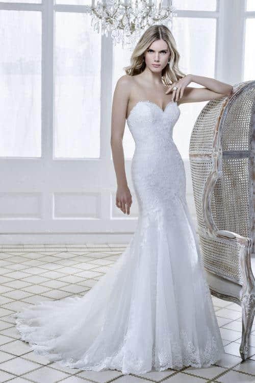 Divina Sposa Stella robe sirène tulle dentelle coloris ivoire ou blanc taille 36 46 - Divina Sposa Stella