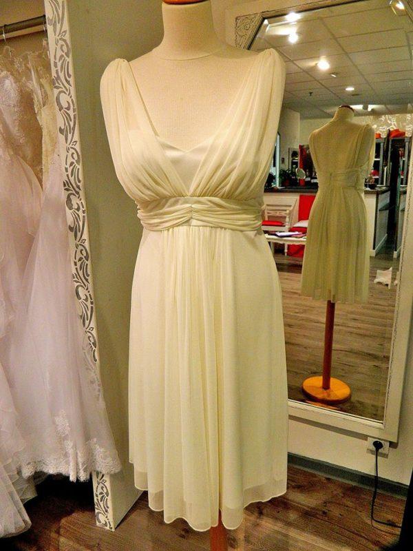 Fashion New York D1177 robe courte en tissu maille coloris ivoire taille 44 140€ au lieu de 209€ - Fashion New York D1177