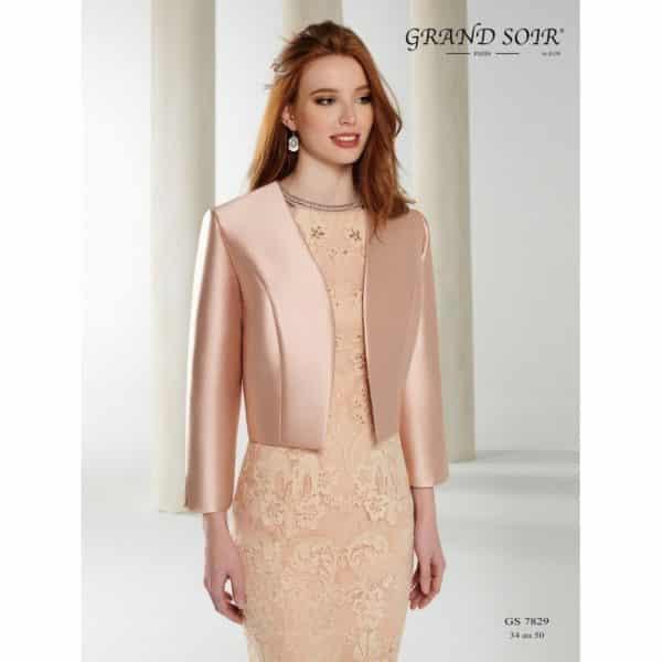 Fashion New York GS7829 détail devant veste taffetas - Fashion New York GS7829