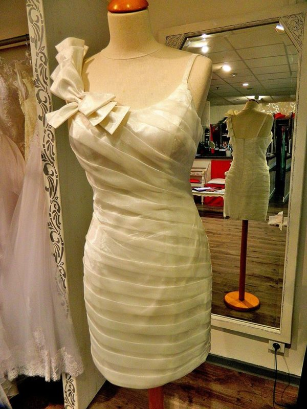 Fashion New York NY1416 robe courte en organza coloris ivoire taille 38 119€ au lieu de 209€ - Fashion New York NY1416