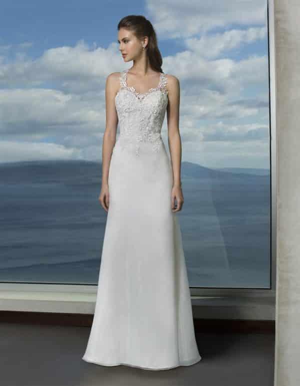 Oréa Sposa Anne de Bretagne robe organza dentelle coloris ivoire ou blanc taille 36 46 - Oréa Sposa Anne de Bretagne
