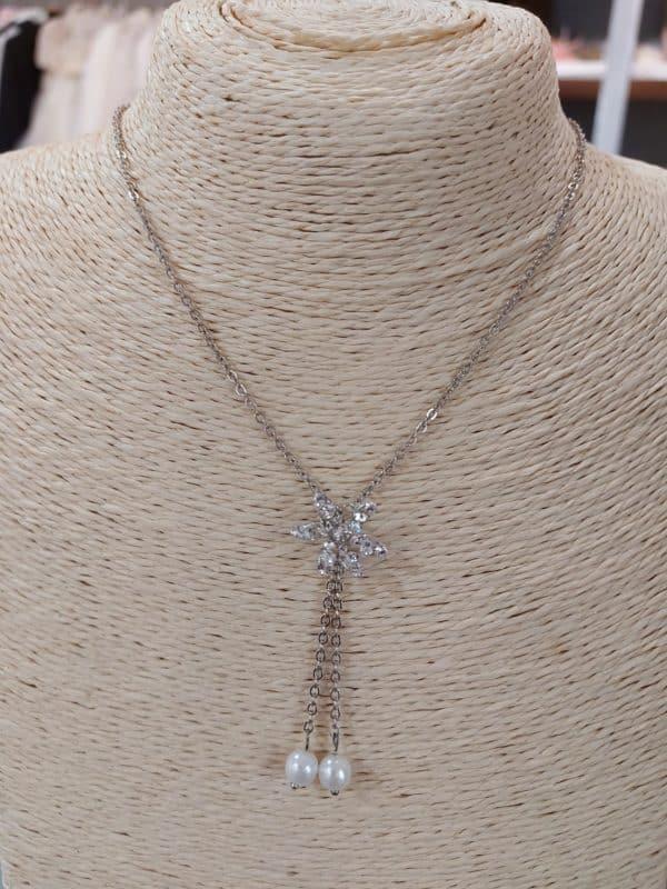20201209 113923 - Collier chaine en argent, perles et zirconium