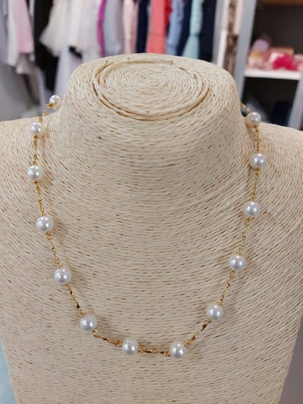 20201209 114240 - Collier en plaqué or et perles de Majorque