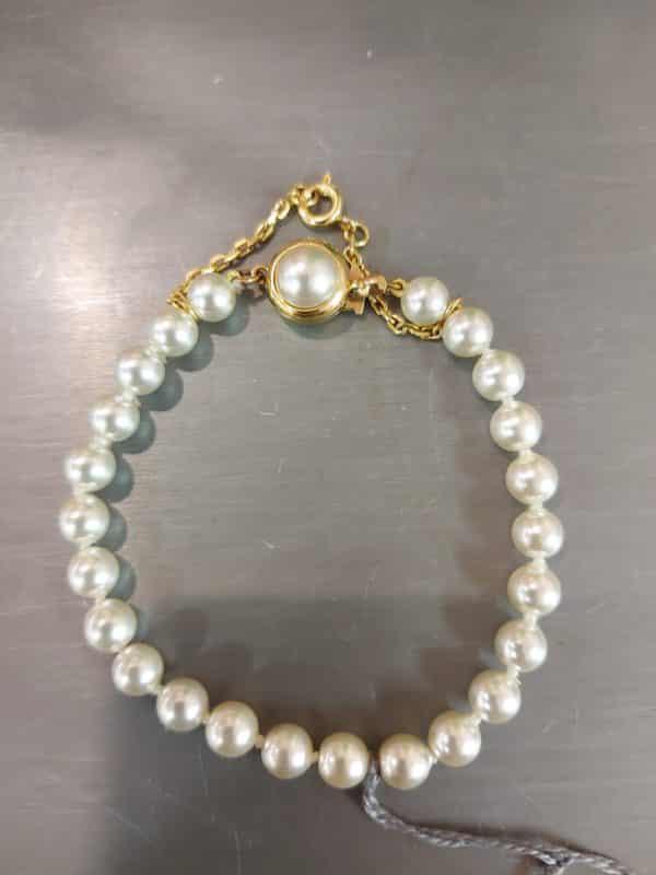 20201209 114542 - Bracelet en perles de Majorque et fermoir en plaqué or