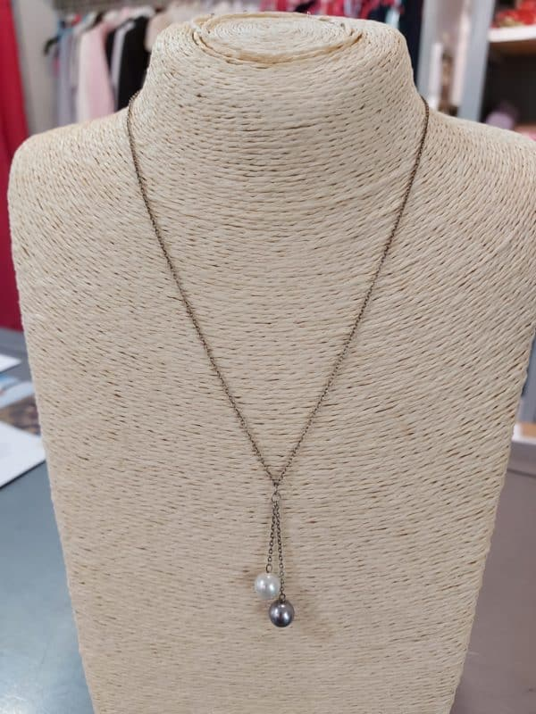 20201209 114841 - Collier chaine en argent et perles