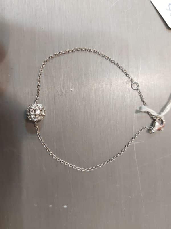 20201209 122014 - Bracelet chaine en argent et perle incrustée de zirconium