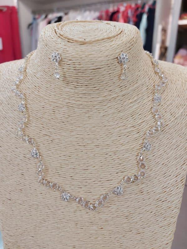 20201209 124249 - parure collier et boucle d'oreille en argent et cristal
