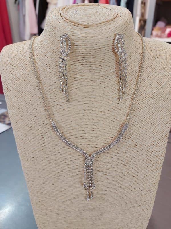 20201209 125111 - Parure collier et boucles d'oreille en argent et zirconium