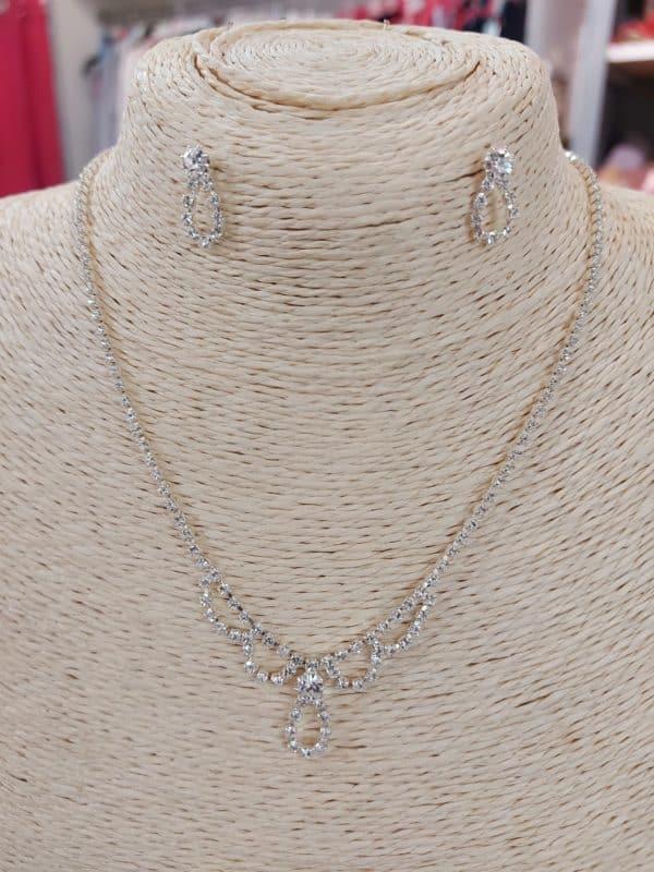 20201209 125509 - Parure collier et boucles d'oreille en argent et zirconium